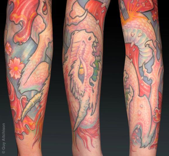 Tattoos - Becky, tattoo geisha closeup - 72599