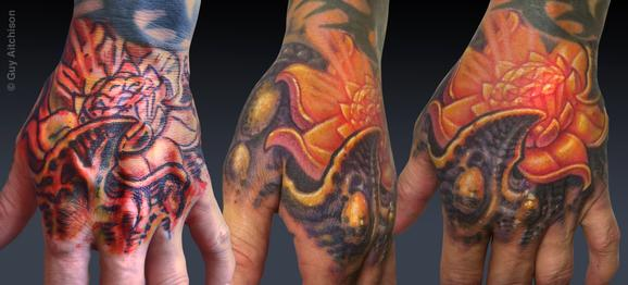 Tattoos - Jason, jeweled lotus, 2011 - 72535