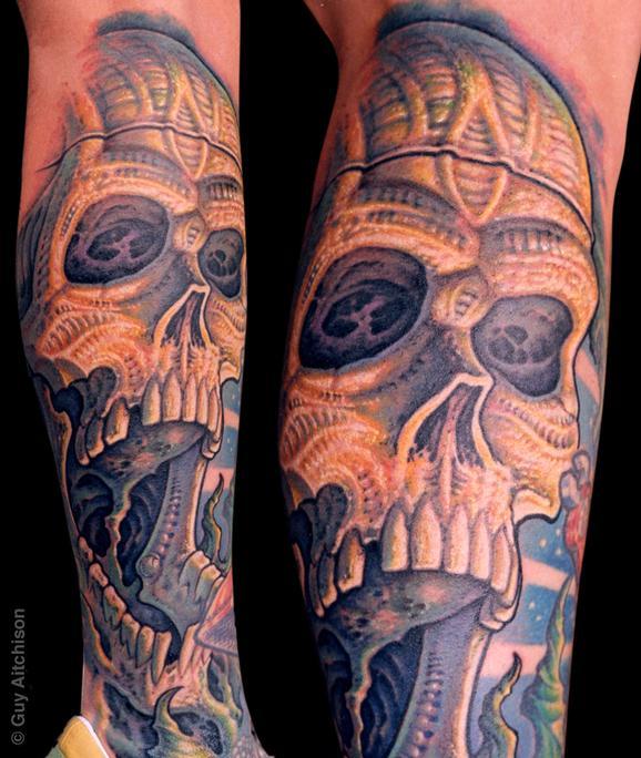 Tattoos - Randy, bio skull - 72600