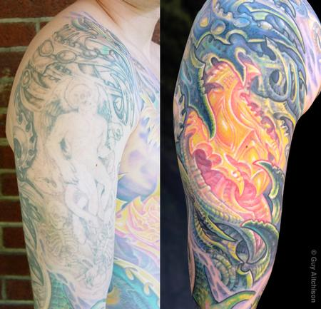 Tattoos - Don, second laser session, after two tattoo sessions - 71530