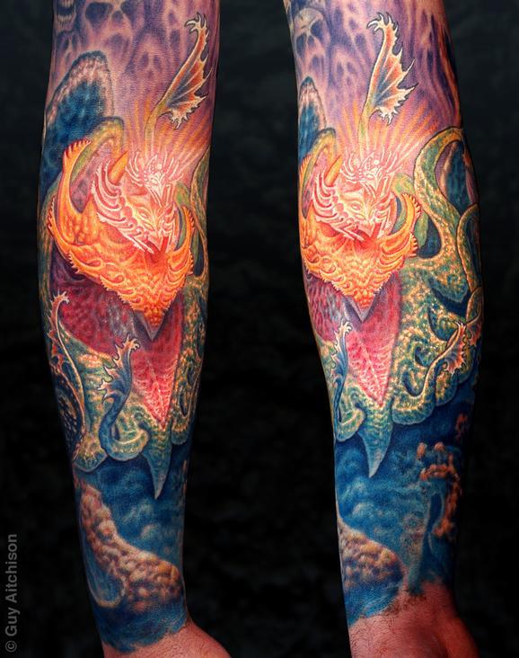 Tattoos - Jeff, mind tree forearm - 72605