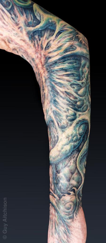 Tattoos - Grime, third degree burn scar coverup, healed - 71536