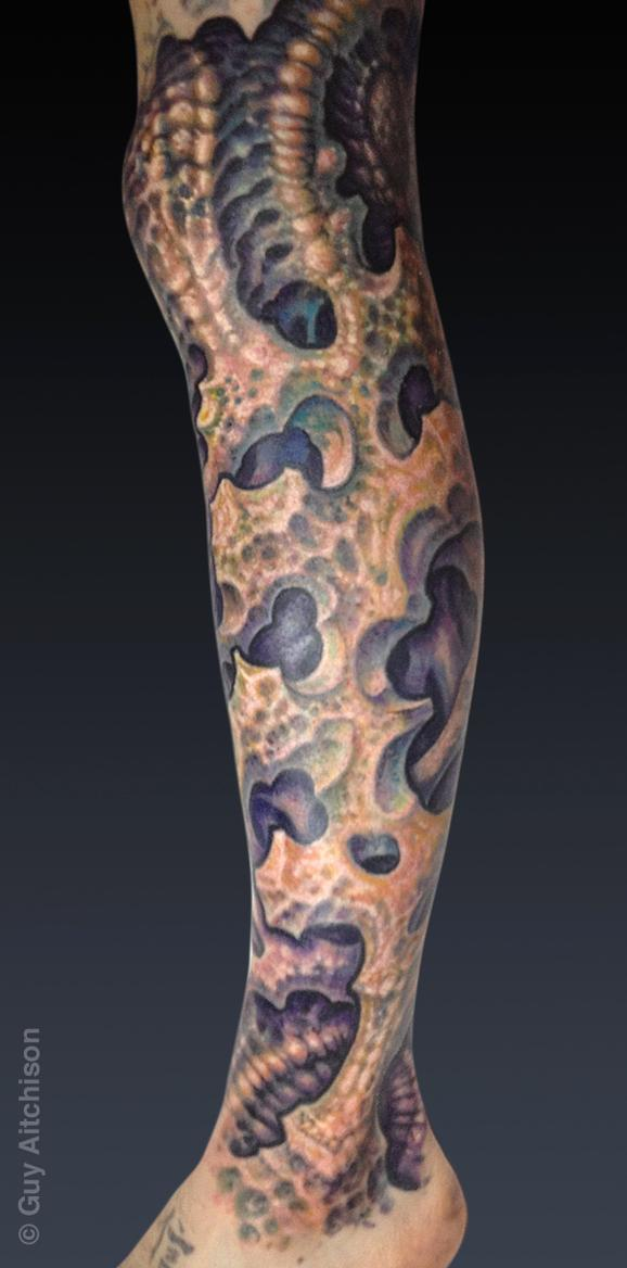 Tattoos - Ty, coralmech leg sleeve - 72545