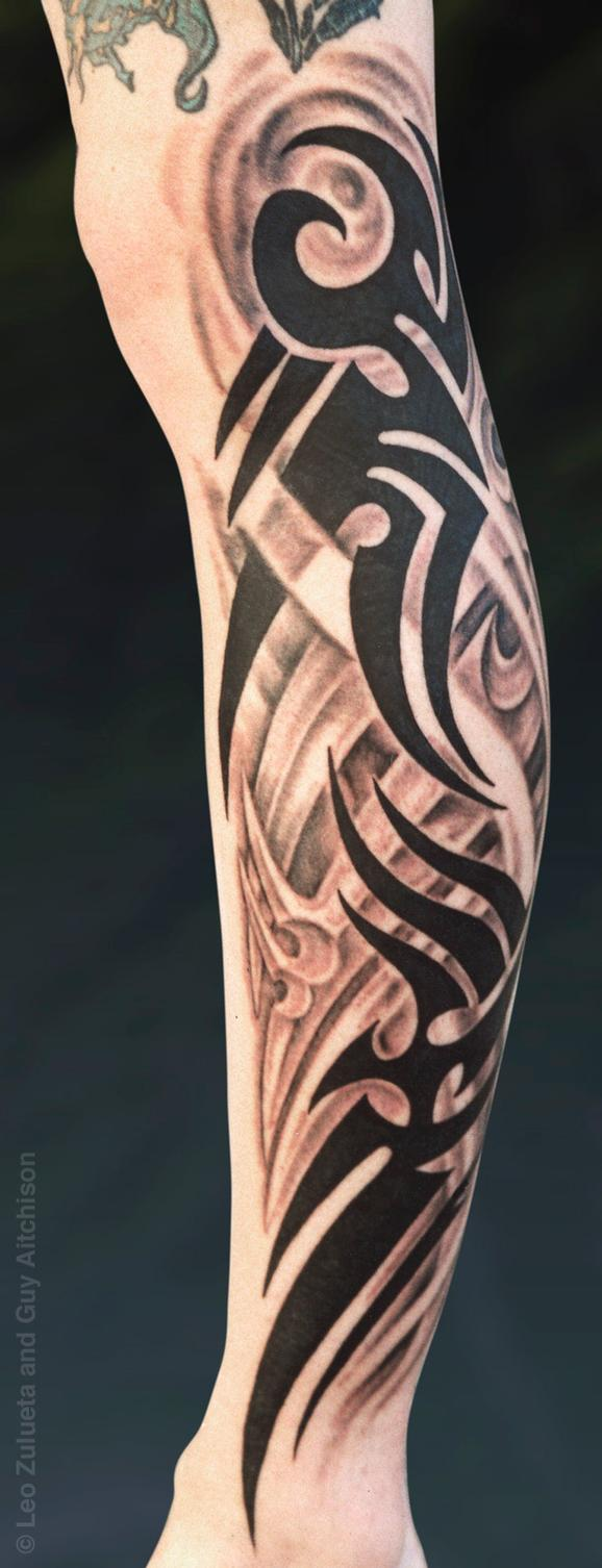 Tattoos - Tribal fusion, Collaboration by Leo Zulueta and Guy Aitchison - 72444