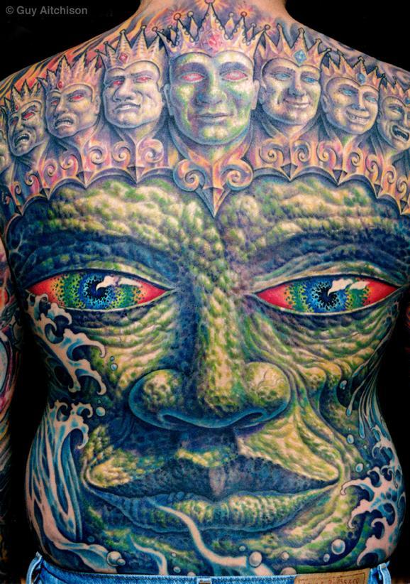 Tattoos - Jay, stone Buddha - 72611