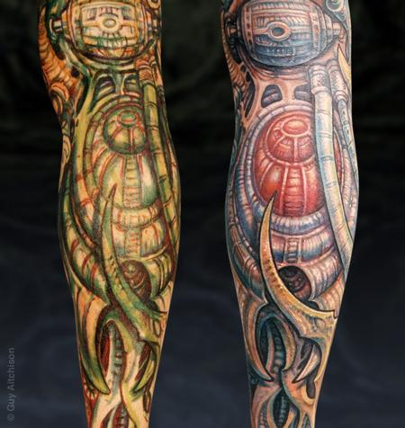 Guy Aitchison - Hiro, marker drawing and finished coverup