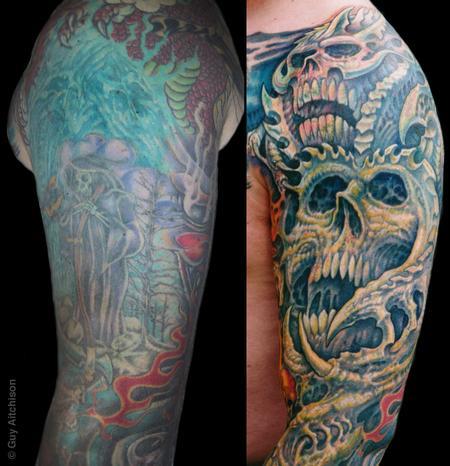 Tattoos - Robert, upper arm closeup - 71548