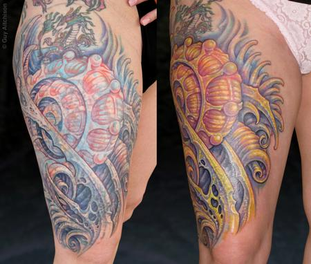 Tattoos - Suzanne, first session healed and then final session finished - 71556