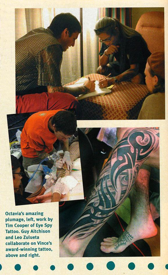 - Leo Zulueta and Guy Aitchison collaborate at Tattoo The Earth, 2003
