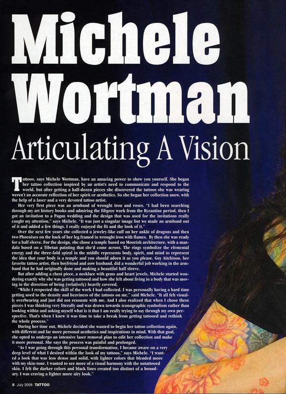 - Wortman, Tattoo Mag, 2008, Page 1