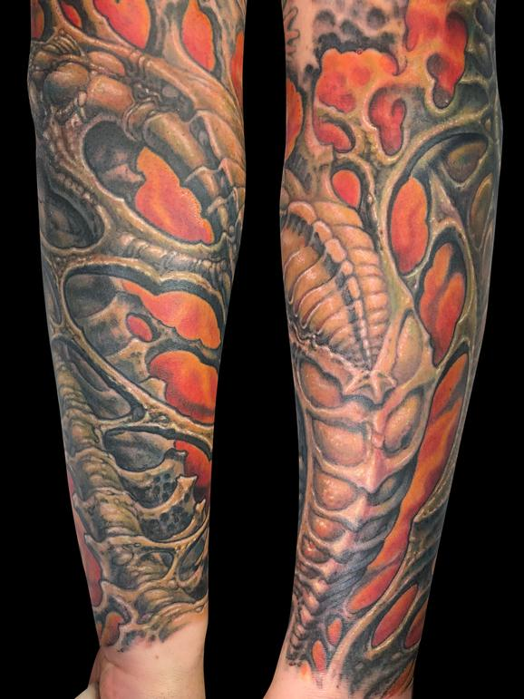 Guy Aitchison - Forearm Bio Organic Tattoo