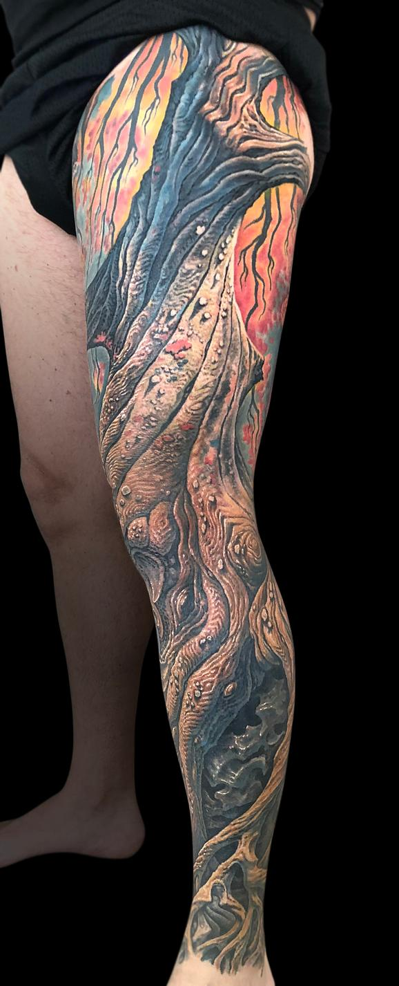 Tattoos - Tree Leg Sleeve - 140269