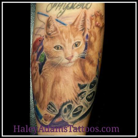 Tattoos - Ziggy the cat as a kitten  - 94101