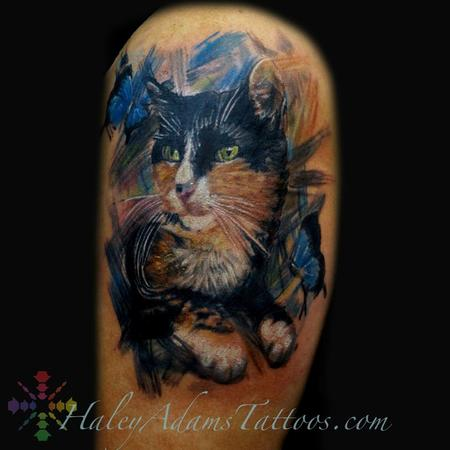Tattoos - Princess the cat tattoo.. cattoo oil painting  - 109578