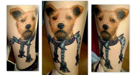 Tattoos - Dog Portrait Tattoo - 69752