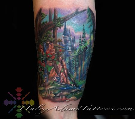 Tattoos - Beauty and the Beast Forest tattoo - 126200