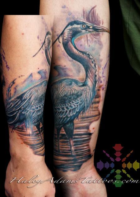Tattoos - great blue heron  - 132521