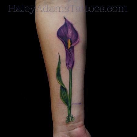 Tattoos - Cala lily tattoo - 101518