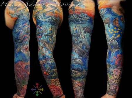 Tattoos - under water sleeve - 123812