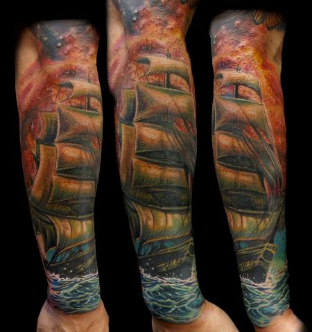 Tattoos - ship tattoo - 134770