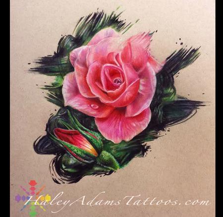 Haley Adams - color pencil roses