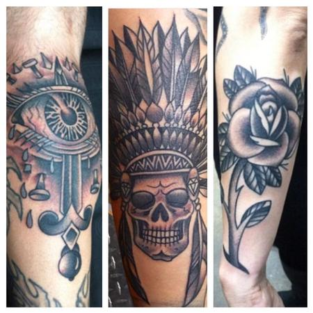 Tattoos - Bold Lines Black and Grey - 108284