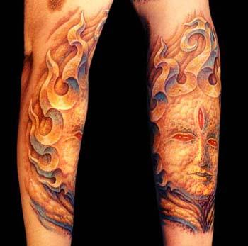 Tattoos - Stone Face - 14812