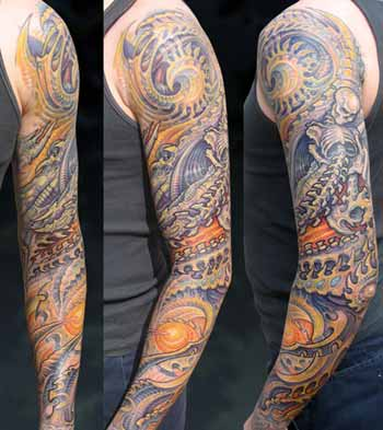 Tattoos - Bio-Organic Bone Sleeve - 28494