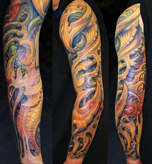 Tattoos - Biomech Sleeve - 28316