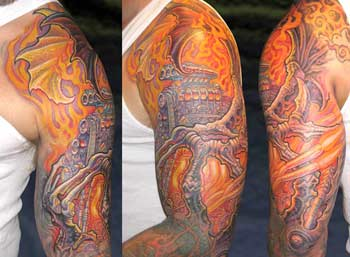 Tattoos - Engine in Flames  - 28323