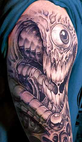 Tattoos - Bio Mech Eyeball - 29093