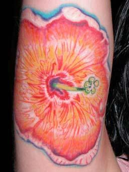 Michele Wortman - Big Flower on Arm
