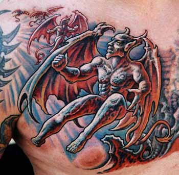 Tattoos - Gargoyle Chest - 29475