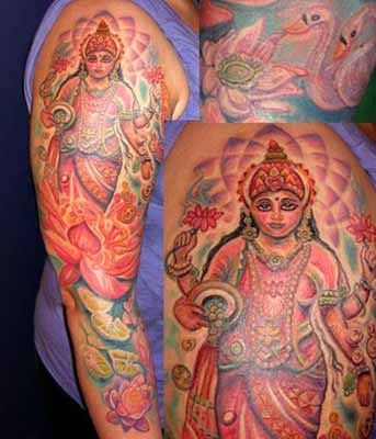 Michele Wortman - Hindu God over Lotus