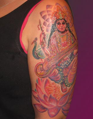 Michele Wortman - Hindu on Lotus with Sitar