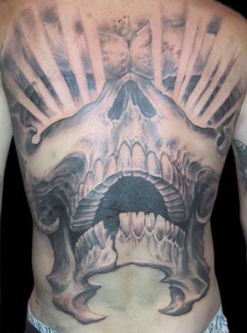 Guy Aitchison - Skull Rays Back Piece