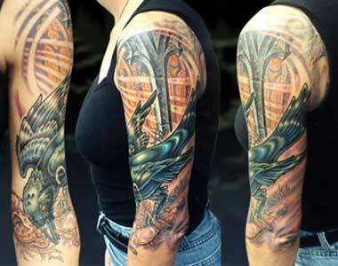 Tattoos - Raven - 13894