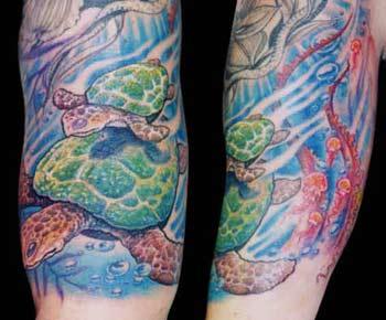 Tattoos - Sea Turtles - 13896