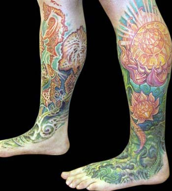 Guy Aitchison - Flower Leg to Foot Sleeve, Another Angle