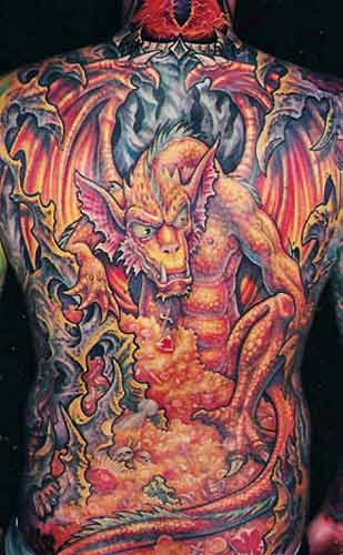Tattoos - J.R. Tolken Dragon - 29414