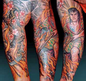 Tattoos - Warrior over Flames - 29416