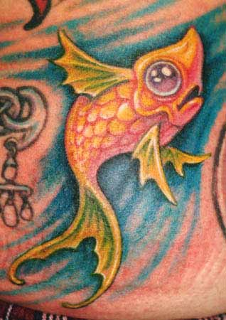 Guy Aitchison - fish tattoo