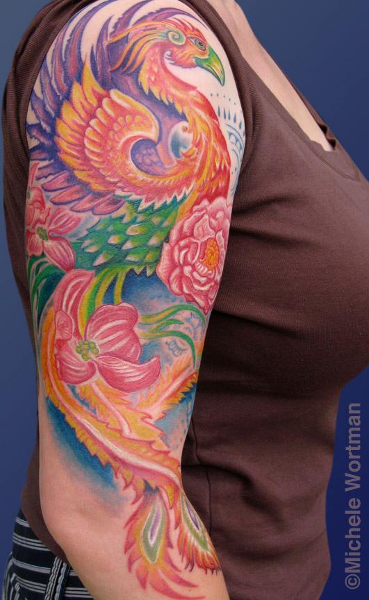 Michele Wortman - Nikki phoenix half sleeve