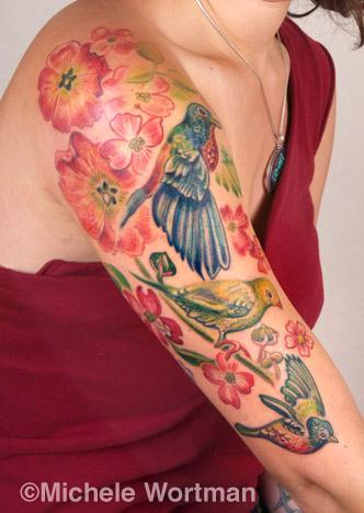 Michele Wortman - Lily bird halfsleeve