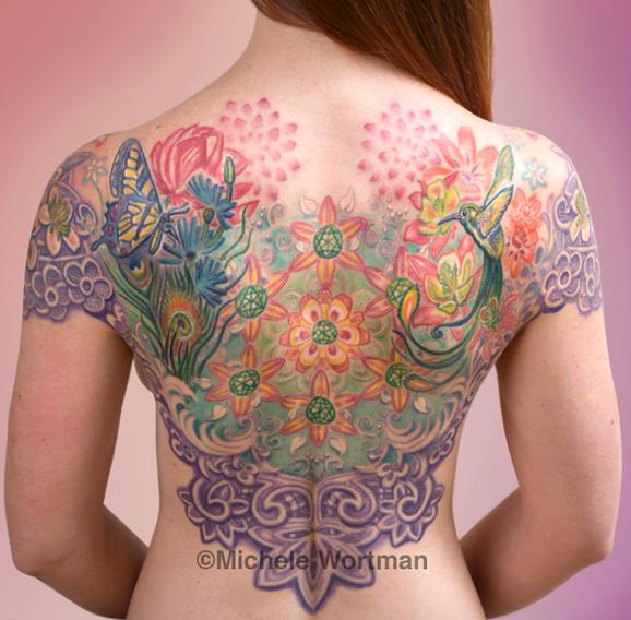 Michele Wortman - echo mandala backpiece