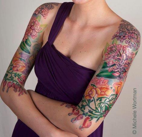 Tattoos - Kerri Bleeding heart bodyset - 71347