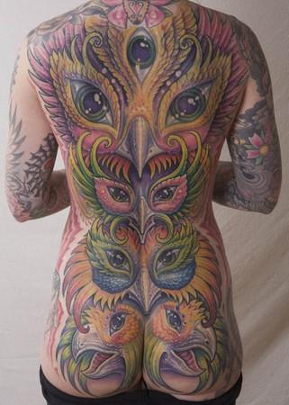 Tattoos - Backpiece coverup tattoo - 47216