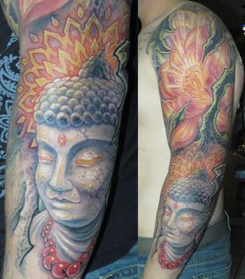 Guy Aitchison - Buddah tattoo sleeve
