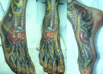 Guy Aitchison - Bio Organic Foot Tattoo