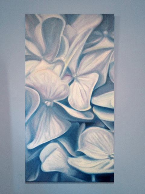 Michele Wortman - Floating Hydrangeia wall example 02